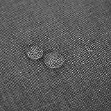 Deconovo Leinenoptik Tischdecke Wasserabweisend Tischwäsche Lotuseffekt 130x280 cm Grau - 3