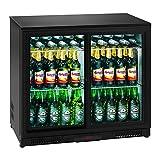 Royal Catering RCGK-208C Minibar Kühlschrank Getränkekühlschrank Flaschenkühlschrank mit Glastür