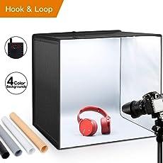 """Tende da scatto ESDDI 20 """"X20"""" X20 """"/ 50x50x50 cm Studio Fotografico a conchiglia portatile Gancio pieghevole e Loop Studio fotografico Tenda da scatto LED Kit con luci a 120 LED Softbox Kit con fondali in 4 colori"""