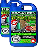 Pro-Kleen 2 x 5 Litres - Simply Spray & Walk Away Concentrate Patio - Fencing - Decking - Green Mould and Algae Remover