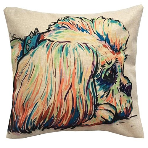 45cm 45cm Pillow Case  HUHU833 Merry Christmas Cute Dog Sofa Bed Home Decoration Festival Pillow Case Cushion Cover  Dog E