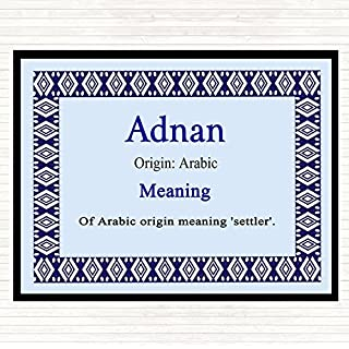 Adnan Name Meaning Mouse Mat Pad Blue