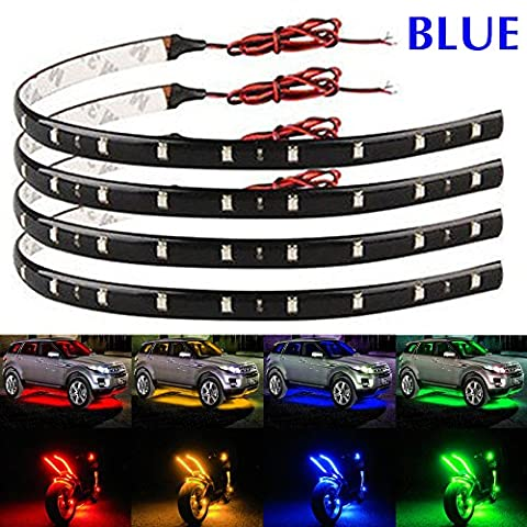 EverBright 30CM-5050-12SMD DC 12V Flexible étanche LED Strip léger, 11,8