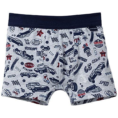 Schiesser Jungen Hip Shorts Boxershorts, grau-Mel. 202, 98 (Herstellergröße: 098) -
