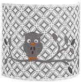 Taftan Applique murale circulaire Hibou gris - Gris