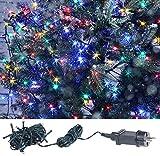 Lunartec Lichterkette Kerzen: LED-Lichterkette mit 40 LEDs für innen & außen, IP44, 4-farbig, 4 m (Weihnachtsbaum-Aussenlichterkette)