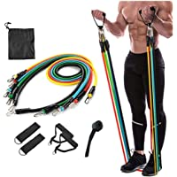 ZOSOE Resistance Bands Set (11pcs), Exercise Bands with Door Anchor, Handles, Waterproof Carry Bag, Legs Ankle Straps…