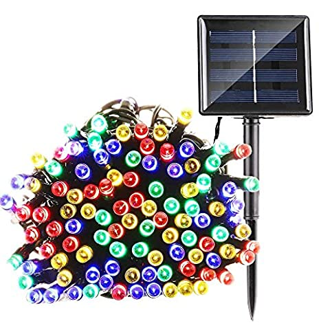 Qedertek Solar Lichterkette 22m 200er LED Garten Außen Licht 8 Modi Außenlichterkette Wasserdicht mit Lichtsensor Weihnachten Decoration Beleuchtung für Outdoor Party, Haus Dekoration, Hochzeit, Weihnachten, Feier Festakt (Mehrfarbig)