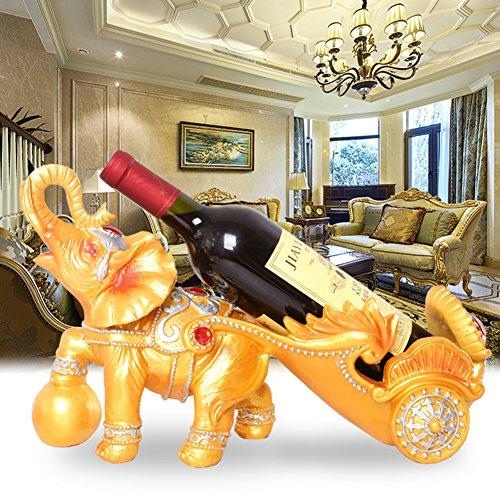 JIEJIEDE Kreative weinregal,Tabletop Wein Racks einzigartige Wein Stehen Flasche Server Display Rack lebenden Raum weinklimaschrank Handwerk Elefanten Wagen modellierung funktionen -A - Server-raum-racks