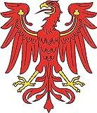 U24 Aufkleber Brandenburg Adler Autoaufkleber 18 x 20 cm Sticker Konturschnitt