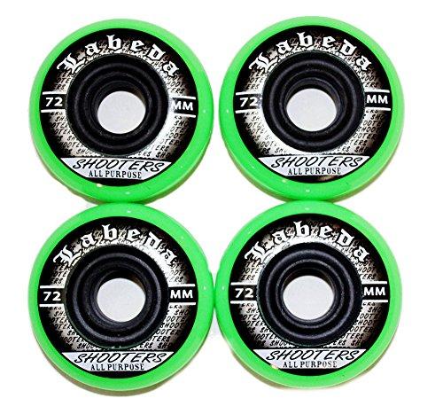 Labeda 4er 8er Set Shooters Hockey Rollen 72mm/78A Streethockey Inliner Skates Allround 18-N2 (4er Set - Rollen)
