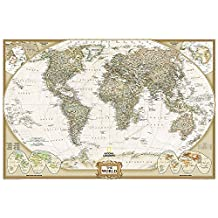 World Executive, Poster Size, Tubed: Wall Maps World