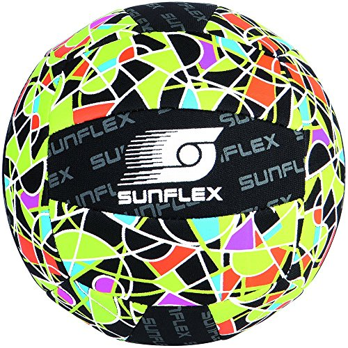 sunflex sport American Football Ball Beachball Neopren, Mehrfarbig, 3, 74704