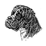 Schecker-Autoaufkleber Hundeaufkleber ideal für helle Autos Boxer - Profil