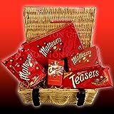 Maltesers Lovers Wicker Hamper Basket - By Moreton Gifts