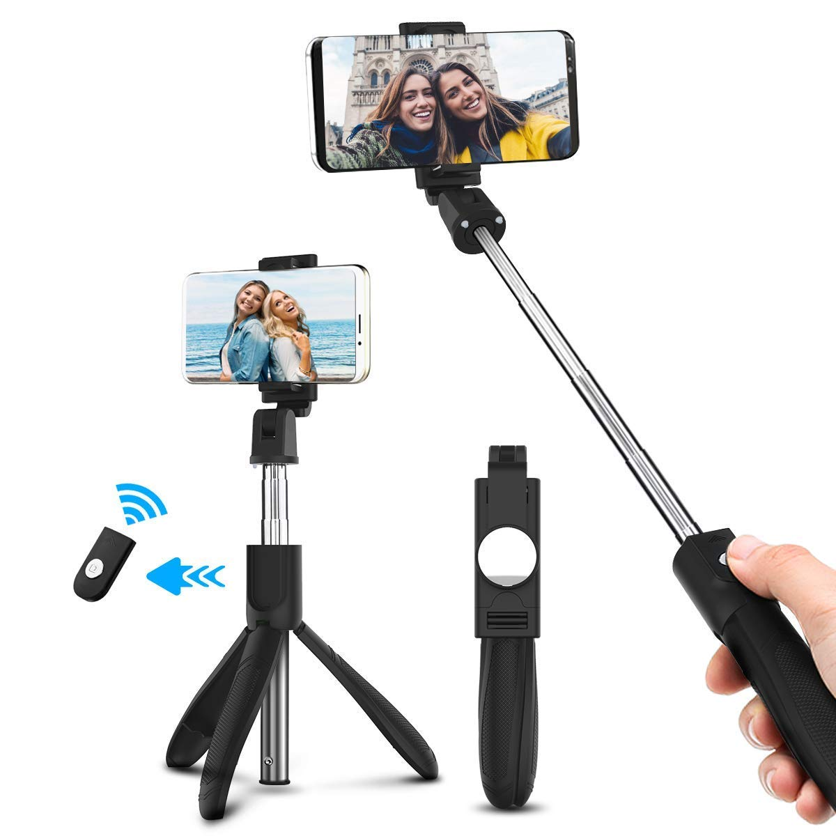 6bdf1cf5c28 Comprar ELEGIANT Palo Selfie Móvil Stick Bluetooth con Trípode ...