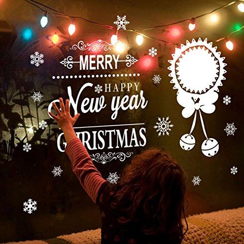 eeflocken fenster klammert aufkleber aufkleber weihnachten gefrorenes thema partei neues jahr liefert ()