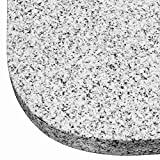 DELSCHEN 8456-900-170 Granit-Platte 25 Kg, 480 x 480 x 40 mm, grau