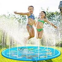 Splash Pad, 170CM Almohadilla de Juegos de Agua para Niños, Tapete Acuático, Jardín de Verano Juguete para Niños PVC, Aspersor de Juego para Actividades Familiares Aire Libre /Fiesta /Playa /Jardín