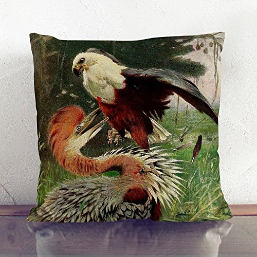 white-backed-faux-suede-cushion-17x17-inch-45-x-45-cm-vintage-w-kuhnert-giant-heron-sea-eagle-square