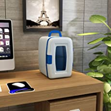 Auto Kühlschrank 10L Auto Dual-Use-Mini-Kühlschrank Schlafsaal Medizin-Box Kosmetik-Kühlschrank,White