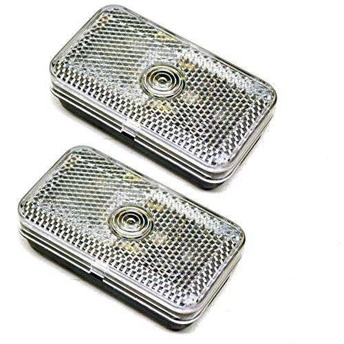 AB Tools-Maypole Scheinwerfer für Schablone vor Mini für Anhänger caravane klar weiß Paar Lampe TR146 -