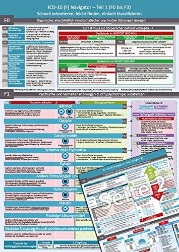 ICD-10 (F) Navigator (2017) – Ideal zur Prüfungsvorbereitung für Heilpraktiker Psychotherapie (PSY) – Teil 1 (F0 bis F3) - Schnell orientieren, leicht finden, einfach klassifizieren