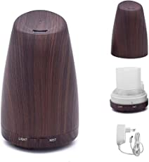 kapimo 120 ml Stylish Aroma Essential Oil Electric Diffuser Silent Cool Mist Humidifier for Home Office Decor