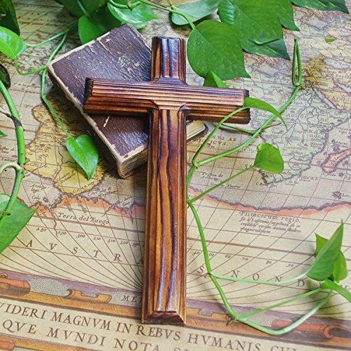 BSQDJ-decorazioni/ornamenti/solido naturale a grana di legno decorazione legno/ornamento/dono del cristianesimo la croce di ornamenti/parete/parete pendente