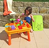 Sand- und Wasser Spieltisch mit Tischplatte und viel Zubehör