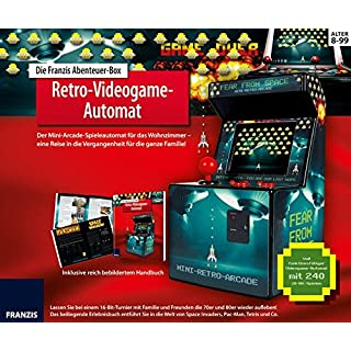 Die FRANZIS Abenteuer-Box Retro-Videogame-Automat: Der Mini-Arcade-Spielautomat für das Wohnzimmer! Mit spannendem Erlebnisbuch   Ab 8 Jahre