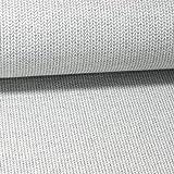 Pepelinchen Hamburger Liebe/ALB-Stoffe: Jaquard-Jersey Knit-Knit Glam Edition - Weiß mit Silber