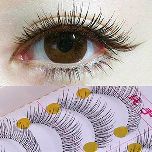 5 paires Faux cils, Xshuai® Femme Lady Fille Naturel Fait à la main Long Faux cils étanche extension dense volumineux cils Cluster Maquillage