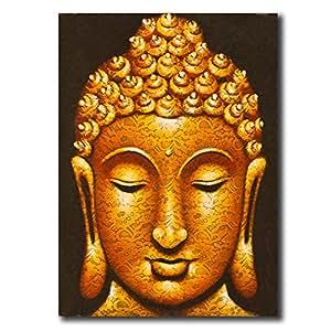 buddha gesicht gemalt spitze stoff gem lde von ogik bali k nstler acryl k che haushalt. Black Bedroom Furniture Sets. Home Design Ideas