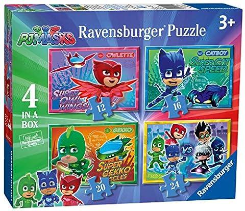 Ravensburger – Pyjamasques – 4 Puzzles – 12, 16, 20 et 24 Pièces