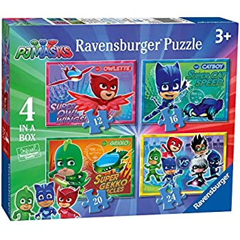 Ravensburger 6917 PJ Masks 4 in Box Jigsaw Puzzles - 12 16 20 24 Pieces