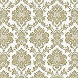 Vinyltapete Tapete Barock Retro # beige/grün # Fujia Decoration # 65335
