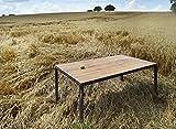 Tisch Bauholz/Eisen Maaike Grau Pulverbeschichtet 180x96cm