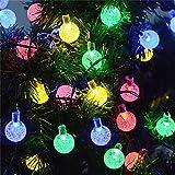 Topeedy 6 M Guirlande Lumineuse avec 40 ampoules LED, guirlande lumineuse décorative à piles pour chambre à coucher, extérieur, mariage, décoration de fête de Noël(Multicolore)