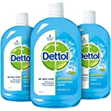 Dettol Liquid Disinfectant for Multi-Purpose Germ Protection, Menthol Cool, 500 ml (Pack of 3)
