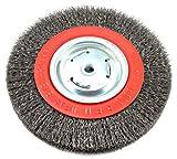 Forney 72762Laufrad Bench Draht Bürste, breit Gesicht grob verquetschen mit 1/2Zoll und 5/8Zoll Arbor, 8-inch-by-.014-inch