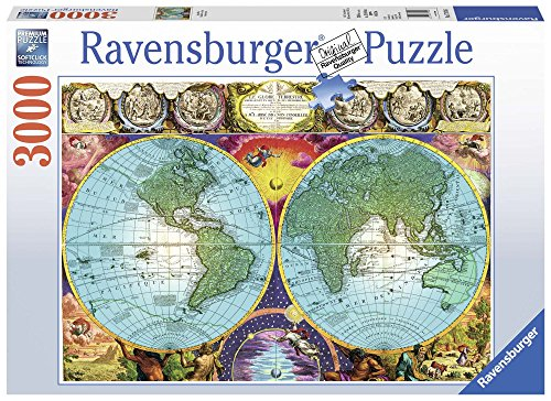 Ravensburger Antique Map, Puzzle 3000 Pzas Globo Terráqueo (17074)
