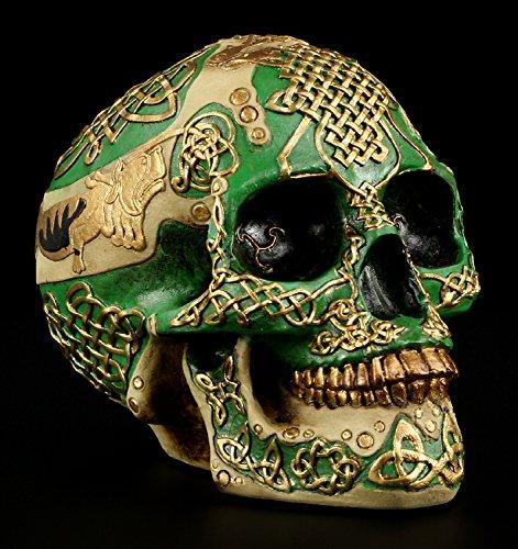 Totenkopf Spardose - keltisch - Skull Deko Figur