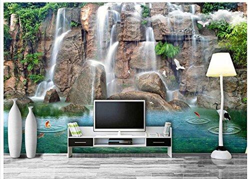 Mznm Maßgeschneiderte 3D-Foto Wallpaper 3D Wandbilder Tapeten Wasser über die Verbesserung von 3-D-Fernseher Einstellung 3D-Wand Wohnzimmer Wallpaper 400 X 280 Cm