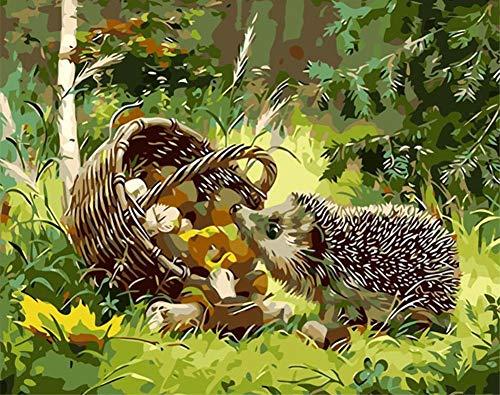 n für Erwachsene Junior Kinder, ABEUTY Igel Korb Pilz Dschungel Tier 40x50cm Weihnachten Valentinstag Geschenk ()