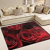 INGBAGS Teppich, Rosenmotiv, besonders weiche Oberfläche, ideal als Wohnzimmer- und Spielteppich, robust, 1,60 m x 1,22 m, Polyester, multi, 63 x 48 Inch