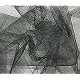 Tela de red de tul de 140 cm de ancho, color negro