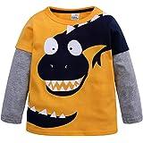Mitlfuny Primavera Otoño Ropa de Bebé Niñas Niños Camisetas de Manga Larga Cosiendo Sudaderas Dinosaurio Dibujos Animados Est