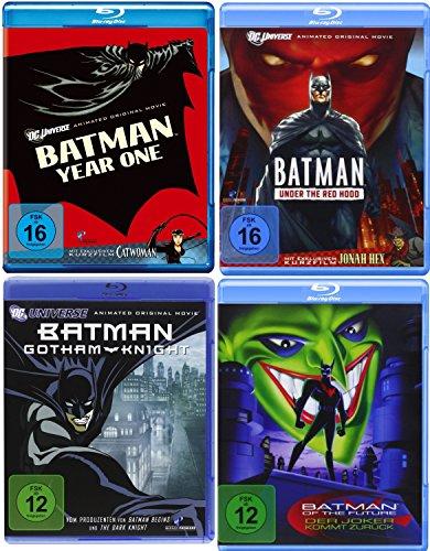 Batman DC Universe Animated Movie - 4 Filme im Set - Year One + Under The Red Hood + Gotham Knight + Batman Of The Future