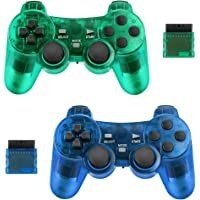 Achort Wireless Controller for PS2 Playstation 2.4G Gamepad Joystick Remote with Dual Shock Vibration Sensitive Control…